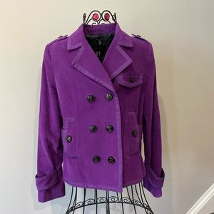 Mango Suit Purple Woman's Blazer Size 8